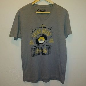 Lucky Brand V-Neck Graphic Shirt